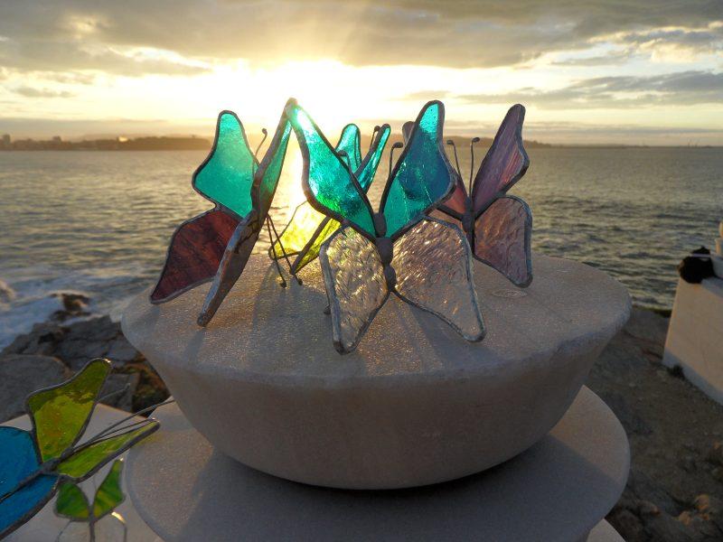 Mariposas de vidrio